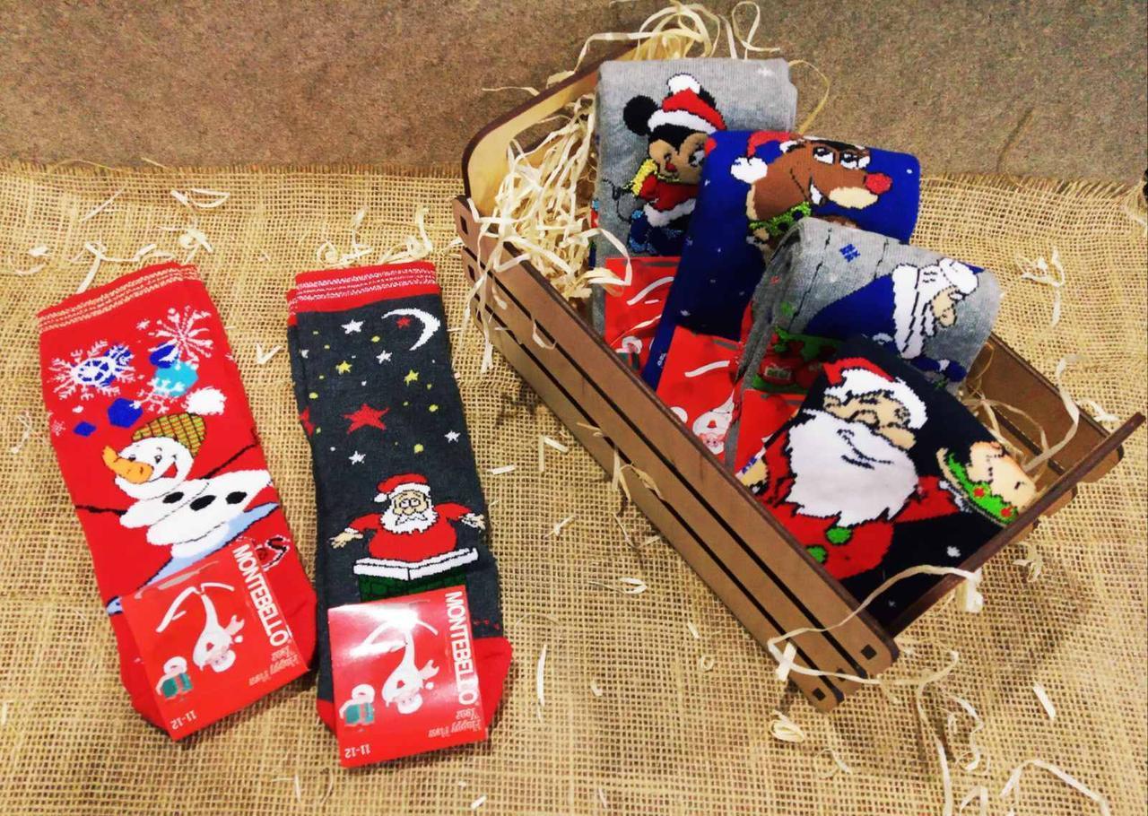 Детские новогодние носочки MONTEBELLO 11-12 лет