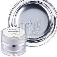 Металлизированный гель для дизайна Metalic Gel Lilly Beaute, 5 мл серебро