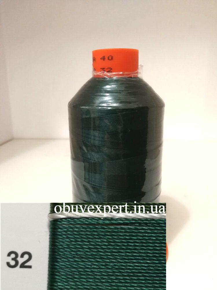 Швейная нить Gold Polydea 40 № 32, цв.  зеленый