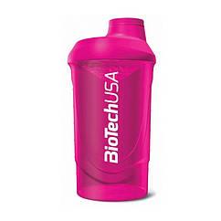 Шейкер спортивный Wave BioTech USA (600 мл) розовый