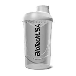 Шейкер спортивный Wave BioTech USA (600 мл) серый