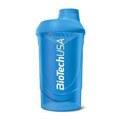 Шейкер спортивный Wave BioTech USA (600 мл) синий