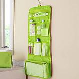 Косметичка органайзер дорожная 2Life подвесной 64,5х26 см Green (n-212), фото 3