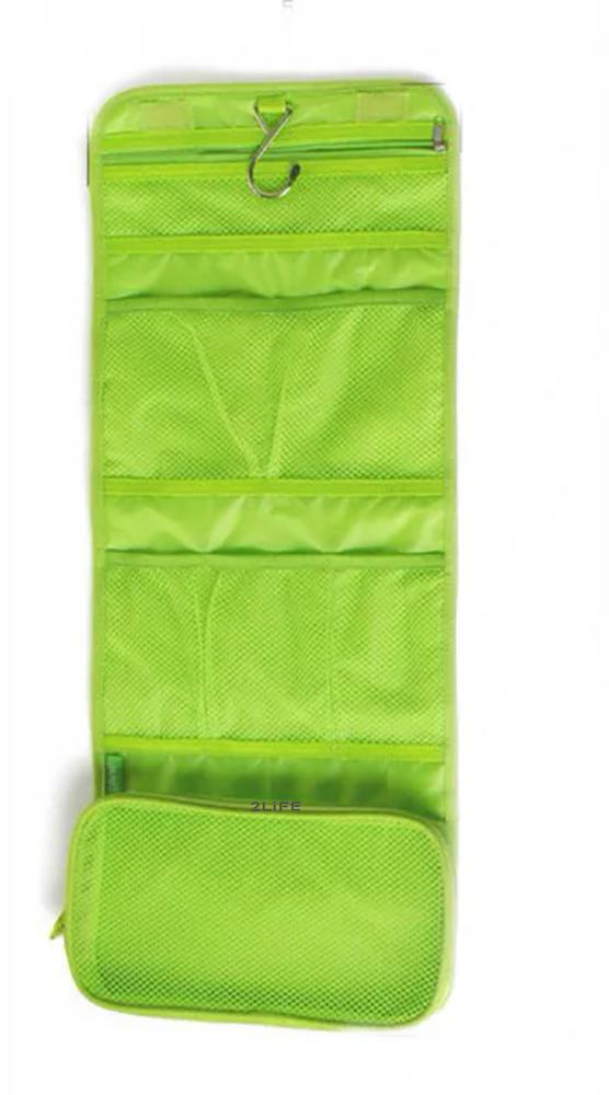 Косметичка органайзер дорожная 2Life подвесной 64,5х26 см Green (n-212)