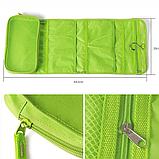 Косметичка органайзер дорожная 2Life подвесной 64,5х26 см Green (n-212), фото 4