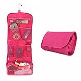 Косметичка органайзер дорожная 2Life подвесной 64,5х26 см Pink (n-214), фото 2