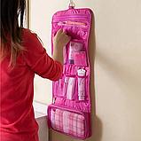 Косметичка органайзер дорожная 2Life подвесной 64,5х26 см Pink (n-214), фото 4