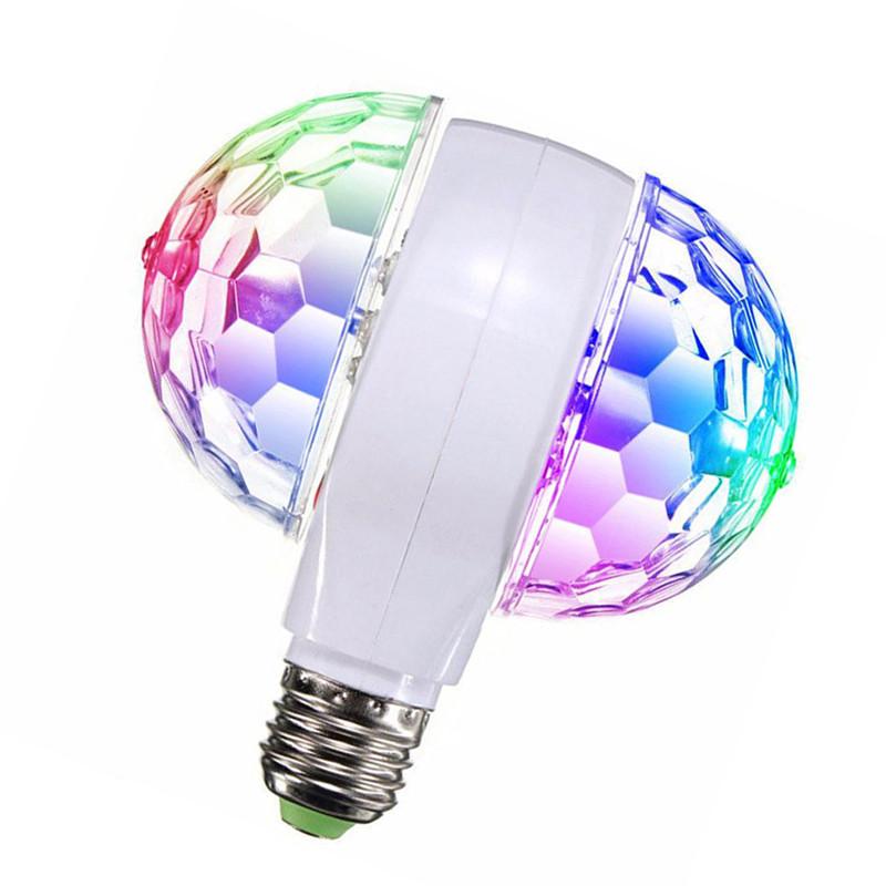 Двойная светодиодная дисколампа с патроном LED Mini Party Light SF-0813