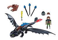 """Игровой набор Playmobil """"Как приручить дракона 3"""" Ночная фурия + (70037)"""