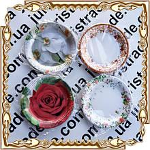 Тарелка бумажная, цветная, с рисунком 230 мм. 10 шт./уп.