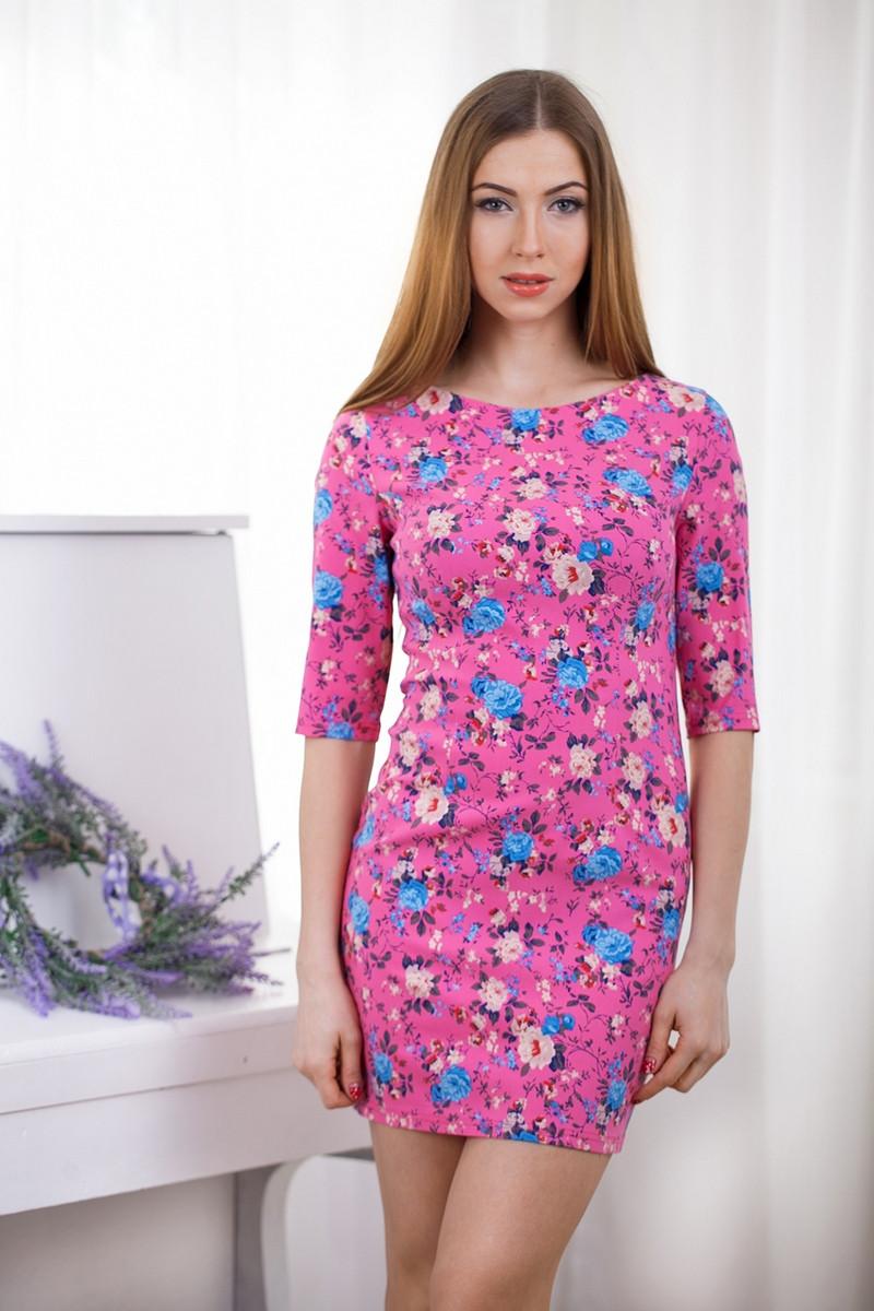 Яркое короткое повседневное платье, разные цвета