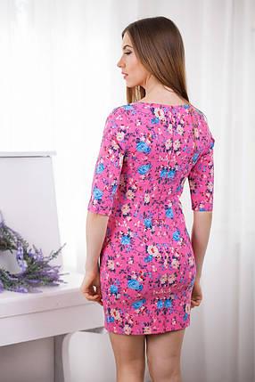 Яркое короткое повседневное платье, разные цвета, фото 2