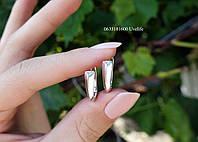 Серьги серебряные с камешком сверху, фото 1