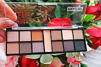 Тени 12+1 праймер Warm Look Palette Pocket Kit Ruby Rose