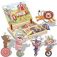 Деревянная игрушка Магнитная игра «Цирк»., развивающие товары для детей.