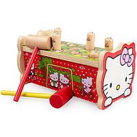 Деревянная игрушка Охота на мышек «Hello Kitty»., развивающие товары для детей.