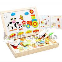 Деревянная игрушка Чемоданчик с фигурками «Веселая ферма»., развивающие товары для детей.