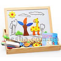 Деревянная игрушка Чемоданчик с фигурками «Магнитные зверята»., развивающие товары для детей.