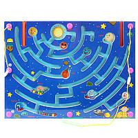 Деревянная игрушка Магнитный лабиринт «Путешествии в космосе», развивающие товары для детей.