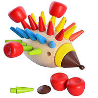 Деревянная игрушка Игра «Ёжик», развивающие товары для детей.