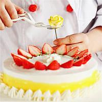 Набор для украшения торта: кондитерские ножницы+гвоздик