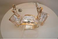 Комплект серебеный со вставками золота 375 пробы