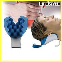 Релаксатор шеи и плеч Pillow blue | Специальная массажная подушка для снятия мышечного напряжения