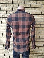 Рубашка мужская стрейчевая коттоновая брендовая высокого качества PART TIME, Турция, фото 2
