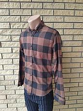 Рубашка мужская стрейчевая коттоновая брендовая высокого качества PART TIME, Турция, фото 3