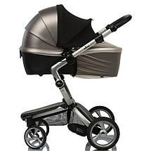 Солнцезащитный козырек на коляску Must Have Shade ТМ ДоРечі с бежевой москиткой, фото 2