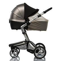 Солнцезащитный козырек на коляску Must Have Shade ТМ ДоРечі с бежевой москиткой, фото 3