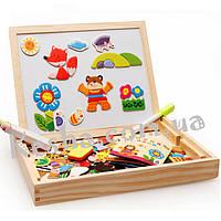 Деревянная игрушка Чемоданчик с фигурками «В мире животных», развивающие товары для детей.