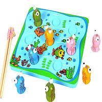 Деревянная игрушка Жабья рыбалка, развивающие товары для детей.