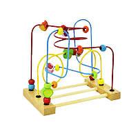 Деревянная игрушка Пальчиковый лабиринт «Сад», развивающие товары для детей.