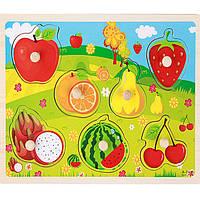 Деревянная игрушка Вкладыши «Фруктовый сад», развивающие товары для детей.