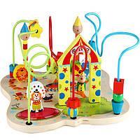 Деревянная игрушка Лабиринт-игра «Цырковое шоу», развивающие товары для детей.