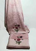 Банное полотенце Цветок 150*90 см.TM Maribor, Турция Розовый