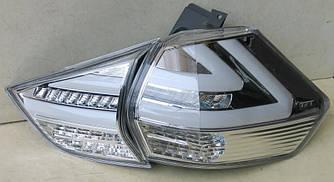 Фонари Nissan Rogue / X-trail T32 (14-19) тюнинг Led оптика (хром)