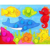 Деревянная игрушка Забавные картинки «Рыбки», развивающие товары для детей.