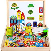 Деревянная игрушка Чемоданчик с фигурками «Городское движение», развивающие товары для детей.