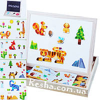 Деревянная игрушка Чемоданчик с фигурками «Абстрактные животные»., развивающие товары для детей.