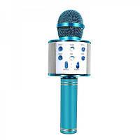 Беспроводной микрофон-караоке WSTER WS-858 черный беспроводной детский голубой