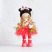 М'які іграшки - текстильна лялечка Ніколь