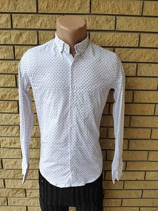 Рубашка мужская коттоновая брендовая высокого качества, маленький размер FACE&FACE, Турция, фото 2