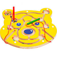 Деревянная игрушка Магнитный лабиринт «Винни», развивающие товары для детей.