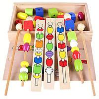 Деревянная игрушка Логическая игра «Форма Цвет», развивающие товары для детей.