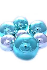 Подарочный набор новогодних елочных шаров Бирюзовый