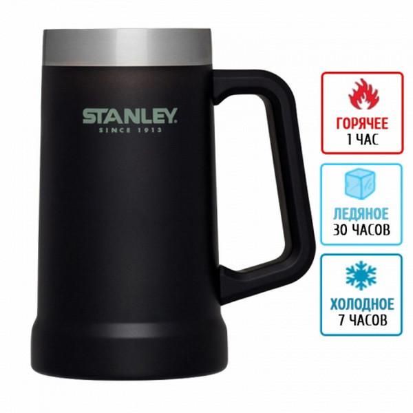 Термокружка для пива Stanley Adventure Stein (0.7л),черная