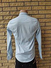 Рубашка мужская коттоновая брендовая высокого качества, маленький размер FACE&FACE, Турция, фото 3