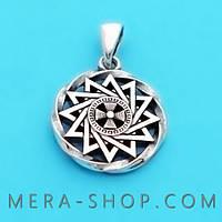 Звезда Эрцгаммы в круге двухсторонняя из серебра 925 пробы